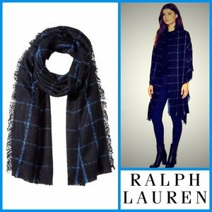 Lauren Ralph Lauren Windowpane Blanket Wrap
